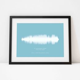 Framed Personalised Soundwave Song Print Gift