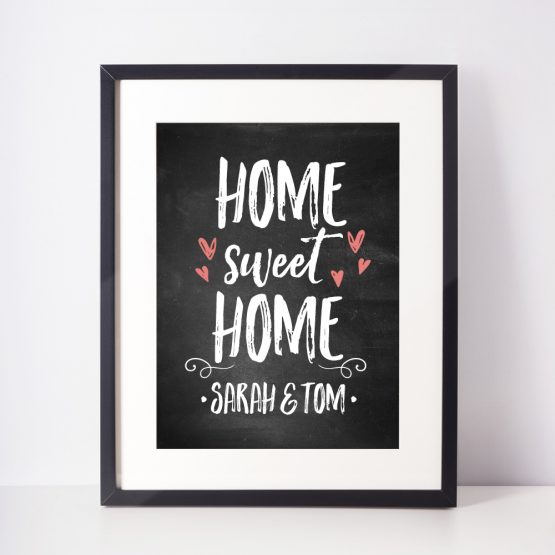 Personalised Home Sweet Home Framed Gift Print