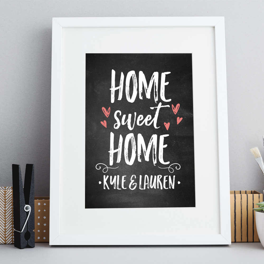 home sweet home chalkboard print inksty