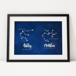 Couple's Anniversary Constellation Zodiac Gift Print