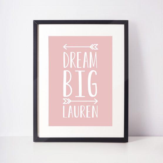 Baby Girl Nursery Personalised Gift Print
