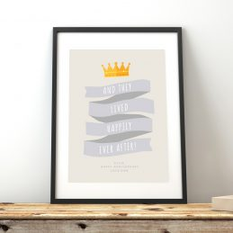 Couple's Gift Personalised Anniversary Print