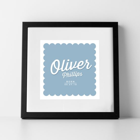 Baby Nursery Personalised Name Print