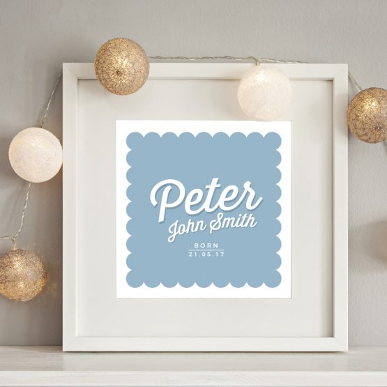 Baby Boy Nursery Personalised Name Print