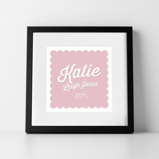 Baby Girl Nursery Personalised Name Print
