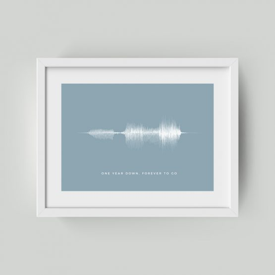 Personalised Framed Soundwave Print