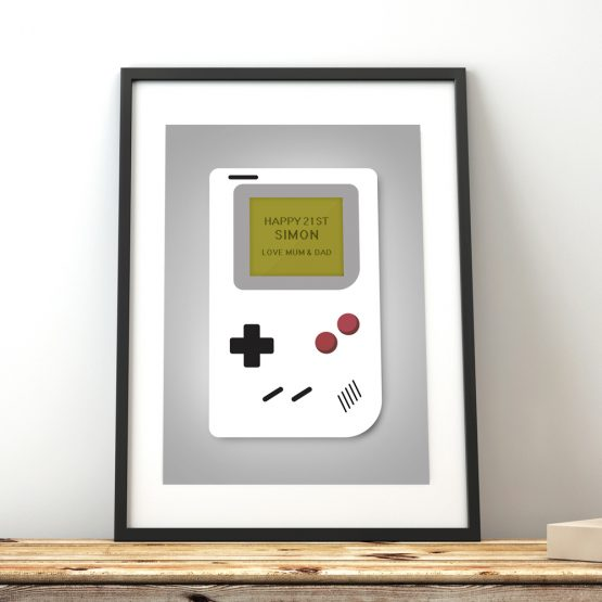 Retro Console Personalised Print Gift