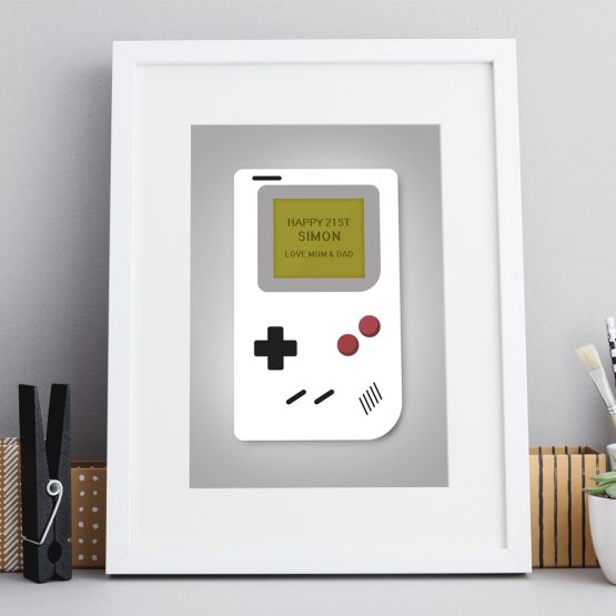 Retro Console Personalised Print Framed Gift