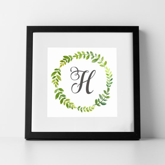 Personalised Initial Framed Gift Print Monogram