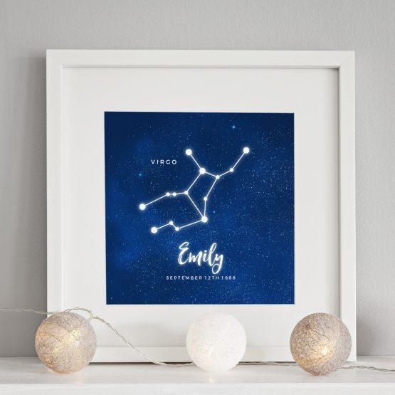 Personalised Constellation Birthday Print