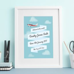 Personalised Prints Baby Framed Gift