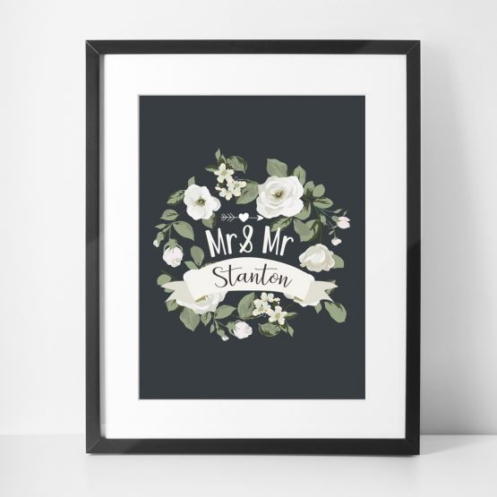 Wedding Anniversary Gift for Couples Framed Print