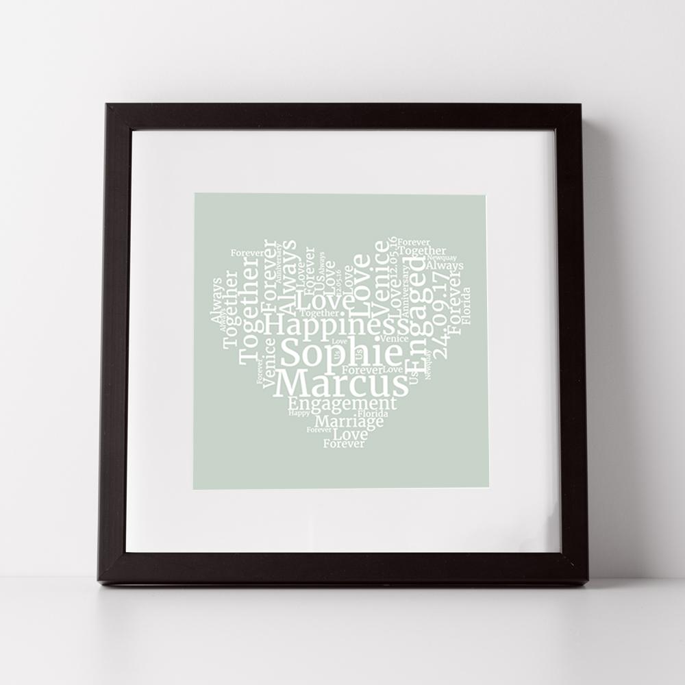 Word Cloud Heart Print | Inksty