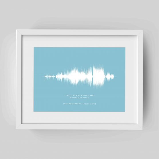 Personalised Soundwave Song Print