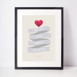 Framed Gifts Anniversary Love Romance For Him For Her Print