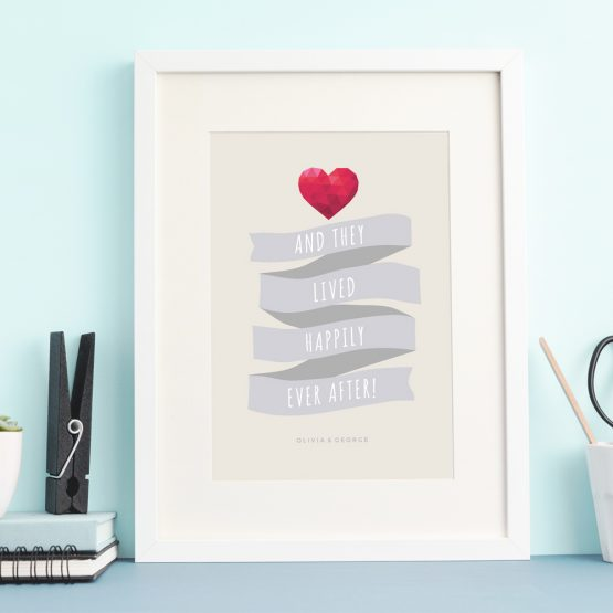 Framed Gifts Anniversary Love Valentines For Him For Her Print