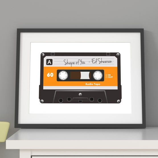 Personalised Song Print Framed Gift