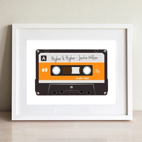 Personalised Song Retro Print Framed Gift Present