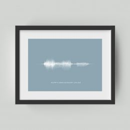 Soundwave personalised print