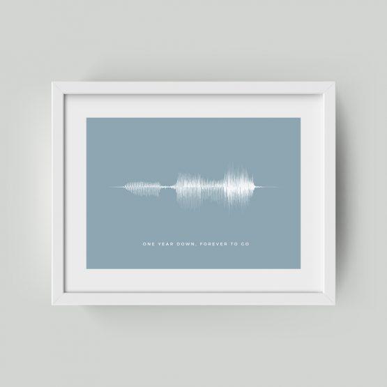 Personalised Framed Soundwave Print