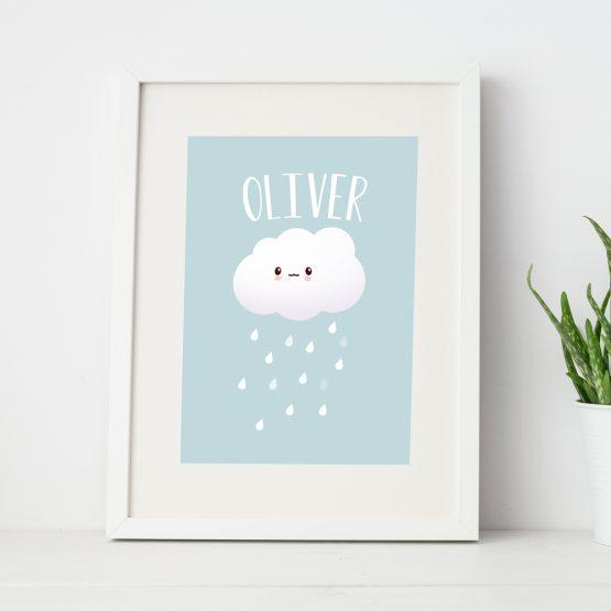Baby Boy Nursery Personalised Framed Gift Print