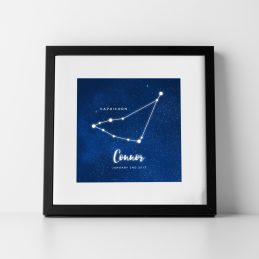 Personalised Star Sign Zodiac Birthday Print