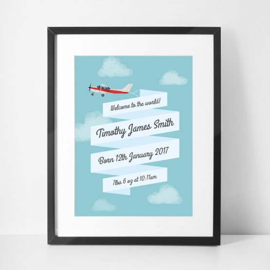 Child's Room Personalised Print Baby Framed Gift