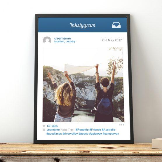Social Media Instagram Framed Gift