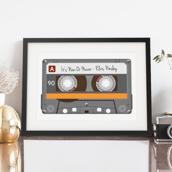 Mixtape Cassette Favourite Song Personalised Print Gift