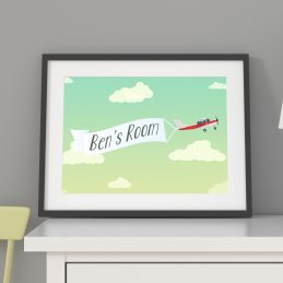 Boys Room Personalised Name Print Framed Gift