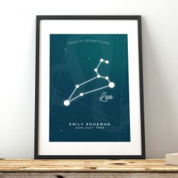 Constellation Print Framed Gifts UK